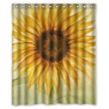 "POOKOO!! FANTASY Sunflower/Printed under Sky""66"" x 72"" Waterproof Polyester Fabric Bathroom Shower Curtain Good gift !"