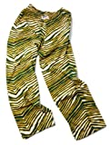 Zubaz Pants: Green/Gold Zubaz Zebra Pants
