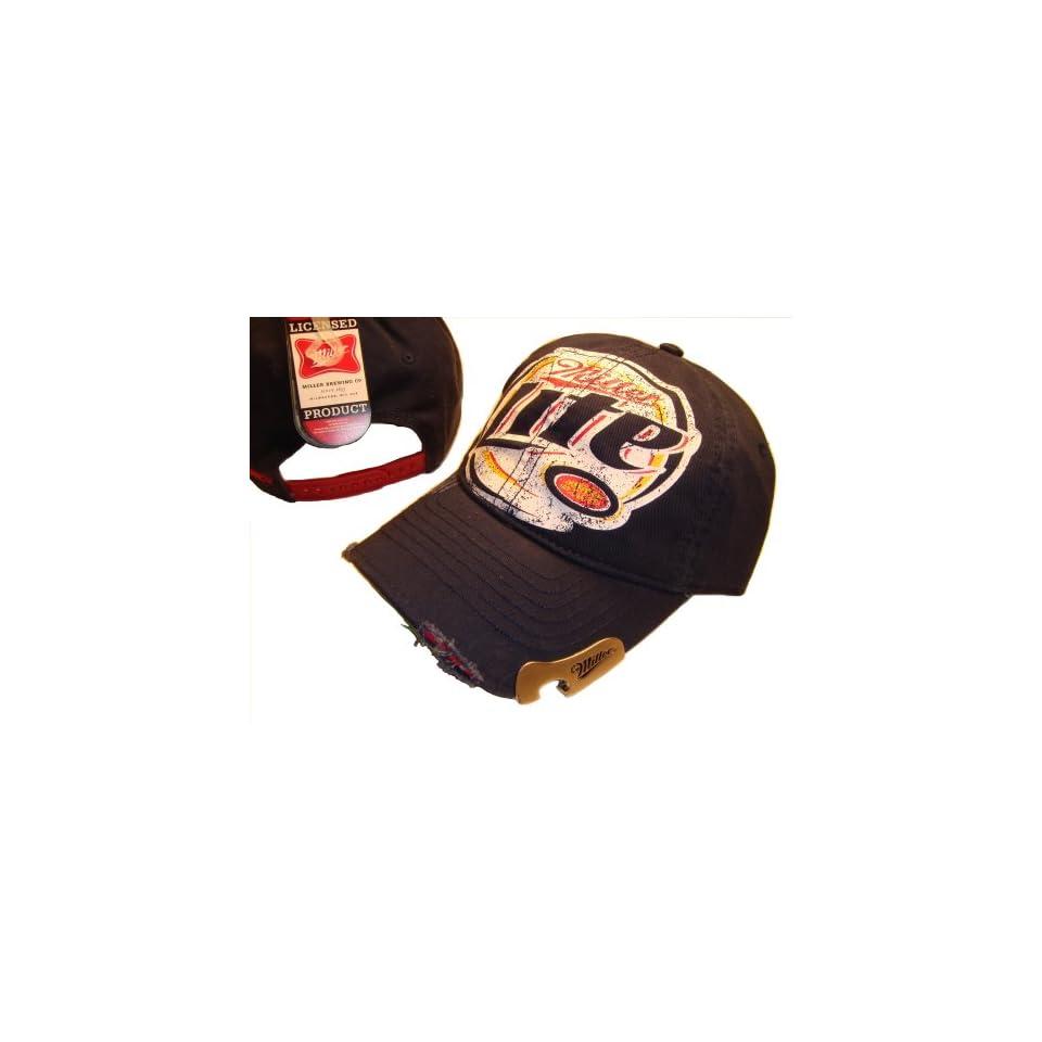 34214f1aa94c5 LITE BEER MILLER CAP CAPS HAT NAVY BLUE BOTTLE OPENER on PopScreen