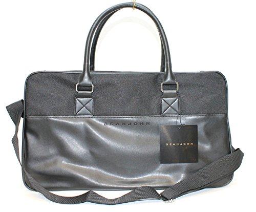 sean-john-black-small-holdall-weekend-bag-travel-bag-new