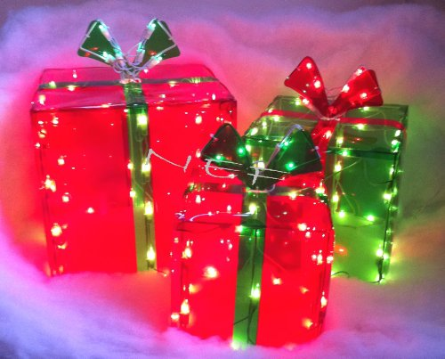 lighted gift boxes christmas indoor outdoor 150 lights presents - Outdoor Lighted Presents Christmas Decorations