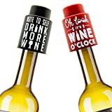 2-Vacuum-Wine-Stoppers-Best-wine-gifts-accessories-keep-your-wine-fresh-add-a-personalized-wine-bottle-touch-with-funny-bottle-cap-art