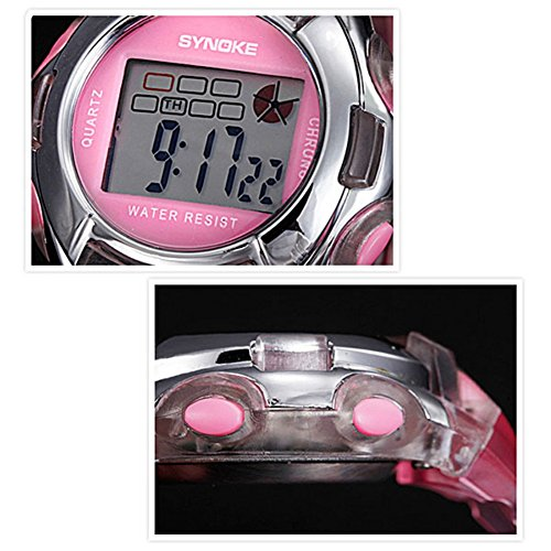 Silvercell Kids Multifunction Waterproof Digital Sports Wrist Watches Red