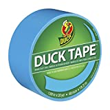 Duck Brand 1311000 Color Duct Tape, Electric Blue, 1.88 Inches x 20 Yards, Single Roll