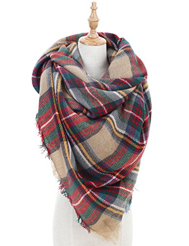 Blanket Scarf for Women Large Tartan Winter Scarves Wrap Shawl Gorgeous