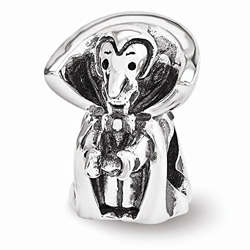 Reflection Beads Sterling Silver Vampire Bead (15 x 10 mm)