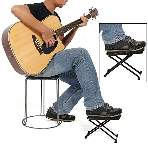Incredible Foxpic Professional Folding Metal Guitar Foot Rest Guitar Squirreltailoven Fun Painted Chair Ideas Images Squirreltailovenorg