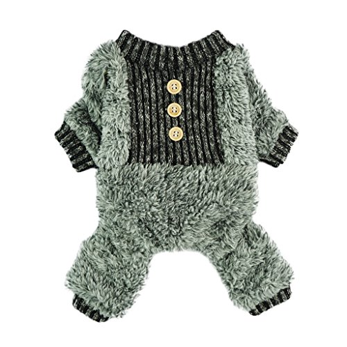 Fitwarm Fuzzy Velvet Thermal Pet Clothes for Dog Pajamas PJS Coat Jumpsuit Large (Thermal Pet Pajamas compare prices)