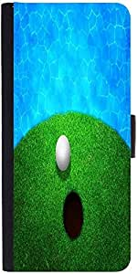 Snoogg Ball Near Water Golf Background Graphic Snap On Hard Back Leather + Pc...