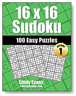 16×16 Sudoku Easy Puzzle Book – Volume 1 – Pages of Puzzles
