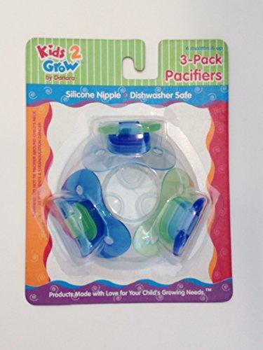 Kids2Grow 3-Pack Baby Pacifiers - BPA Free (Blue) - 1
