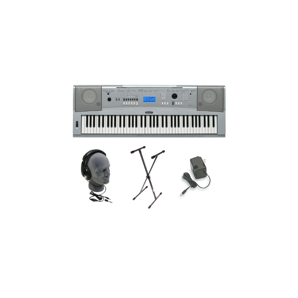 Yamaha DGX 230 Keyboard Bundle, 76 Keys Includes Professional