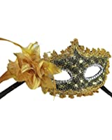 Outop Sexy Lace Eyes Mask for Masquerade Party Fancy Dress Black Plus Bag