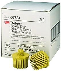 3M 075311 Yellow Scotch-Brite Roloc Bristle Discs