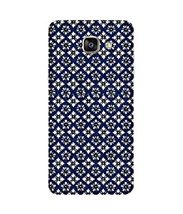 Mosaic White Flowers Printed Back Cover Case For Samsung Galaxy A5 2016 Edition