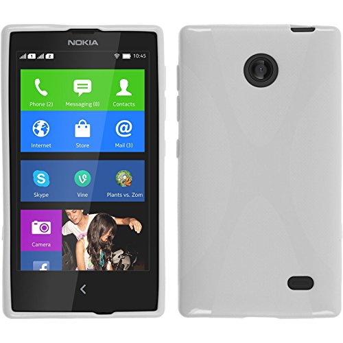 PhoneNatic Nokia X / X+ Hülle Silikon rot X-Style Tasche X / X+ Case + Schutzfolien