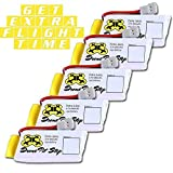 NEW-5 X 3.7V 500mAh Upgrade LiPo Battery For Hubsan, Walkera, UDI, JJRC, Holy Stone