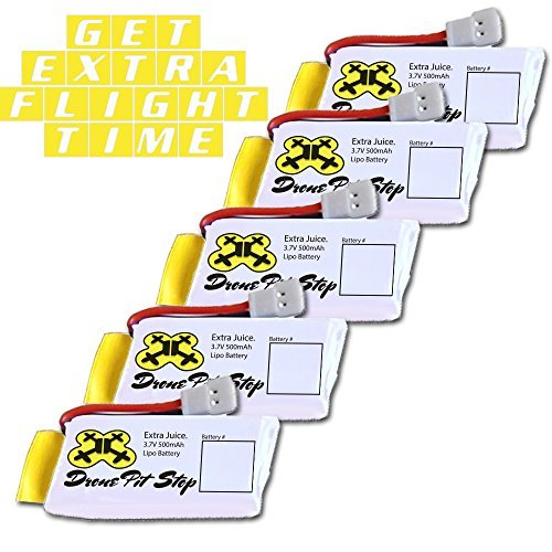 NEW-5 X 3.7V 500mAh Upgrade LiPo Battery For Hubsan, Walkera, UDI, JJRC