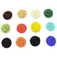Eshoppee Seed Beads For Jewelery Making Set Of 12 Colours , 20Gm X 12