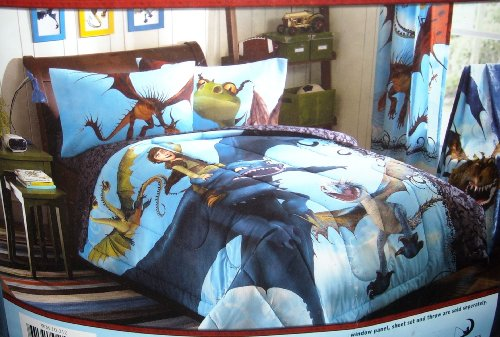 How To Train Your Dragon Full Size Comforter & Full Size Sheet Set (5 PIECE SET)