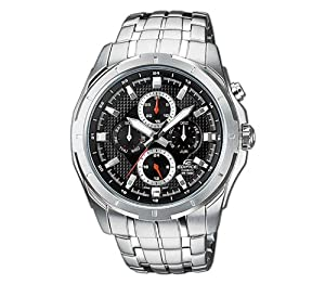 Casio Edifice EF-328D-1AVEF Men's Analog Quartz Watch Steel Bracelet Black
