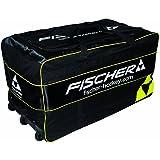 Fischer Hockey Senior Pro Goalie Wheel Bag, Black With Sulfur