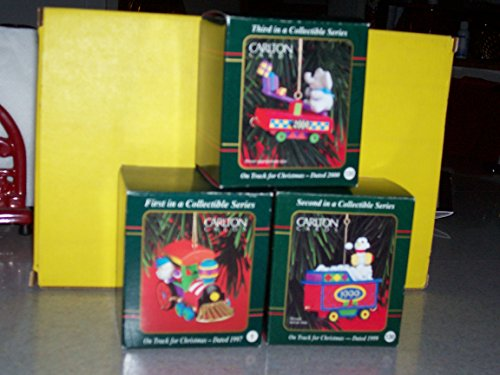 Carlton Little Heirloom Treasures On Track for Christmas - First, Second and Third in Series