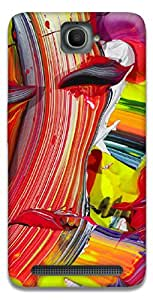 The Racoon Grip A Splash hard plastic printed back case / cover for Alcatel Onetouch Flash