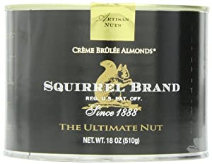Squirrel Brand Nuts, Creme Brulee Almonds, 18-Ounce Cans (Pack of 2)
