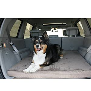 "Luxury Memory Foam Folding SUV Dog Bed with Plush Cover Size: Large (48"" L x 2.40"" H)"