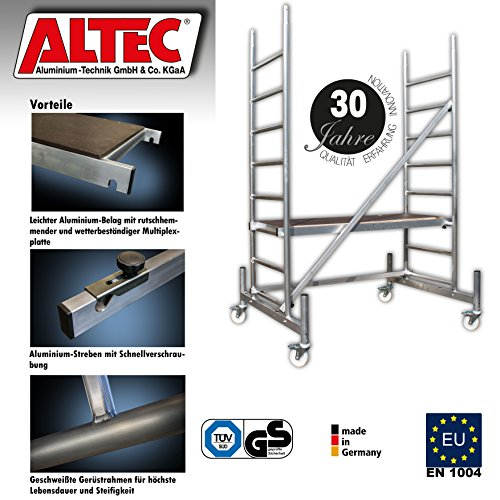 ALTEC-Rollfix-300-Arbeitshhe-3-m-neu-inkl-Rollen-und-Fahrtraverse-TV-geprft
