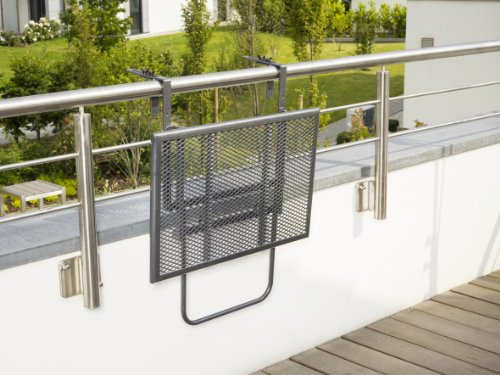 Greemotion 416505 toulouse tavolino sospeso da balcone for Set da balcone