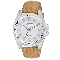 Laurels Gatsby 2 Analog White Dial Mens Watch ( Lo-Gt-201)