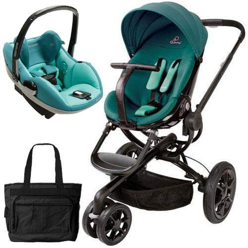 Quinny CV078BFQ Moodd Prezi Travel system with Diaper bag and car seat - Green Courage