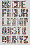 Maxwell Dickson Alphabet Dots Canvas Art Wall Decor Print
