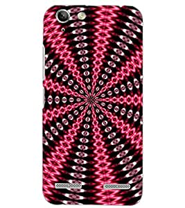 PrintDhaba RED BROWN PATTERN D-6775 Back Case Cover for LENOVO VIBE K5 (Multi-Coloured)