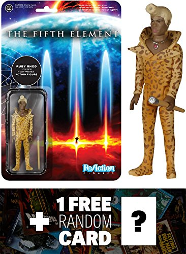 Ruby Rhod: Funko ReAction x The Fifth Element Action Figure + 1 FREE Classic Sci-fi & Horror Movies Trading Card Bundle (52126)