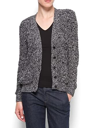 Mango Women's Oversized Cotton Cardigan - Trish, Black, M