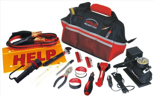 Apollo Tools DT9771 53 Piece Roadside/Emergency Tool Kits with Air Compressor