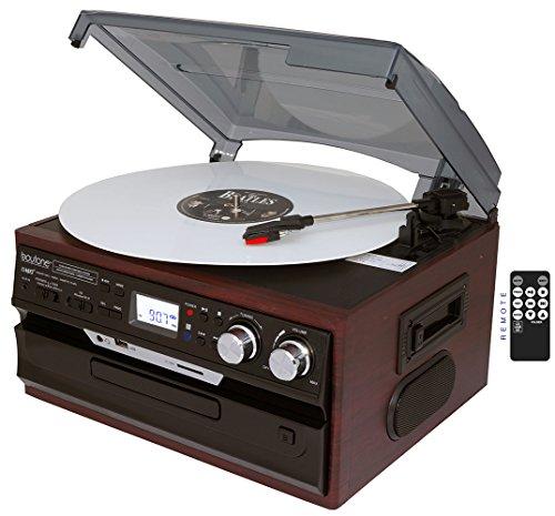 7-in-1-Boytone-BT-21DJM-C-3-Speed-Turntable-334578-Rpm-Belt-Drive-CD-Cassette-Player-AMFM-USBSD-Slot-Aux-Input-2-built-in-speaker-Encoding-Vinyl-Radio-Cassette-To-MP3