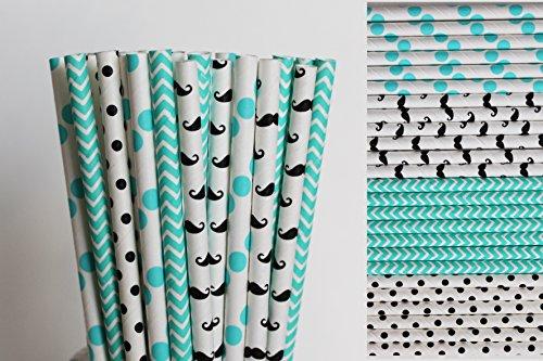 Mustache Paper Straws