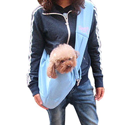 Bao Core/BXT 100% Cotton Hands-free Reversible Small Dog Cat Sling Carrier Bag Travel Tote Double-sided Shoulder Carrier for Pets