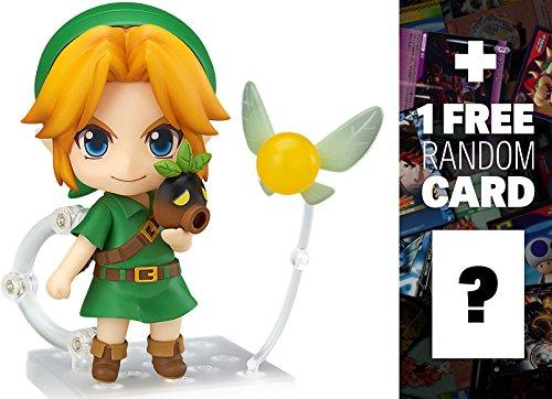 Link (Majora's Mask 3D): Nendoroid x The Legend of Zelda 'Majora's Mask 3D' Mini Figure + 1 FREE Video Games Themed Trading Card Bundle