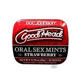 GoodHead Oral Sex Mints Bulk Strw 60/bag