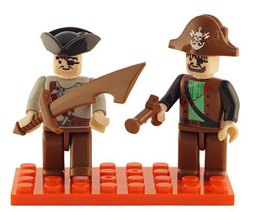 Brictek 2 Piece Pirate Figure Set - 1