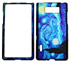 IMAGITOUCH® For LG Splendor Venice US730 Optimus Showtime L86C (Boost, U.S.Cellular, Net 10, StraightTalk) Rubberized 2D Design Vincent Van Gogh Starry Night Hard Case Shell Cover Phone Protector Faceplate