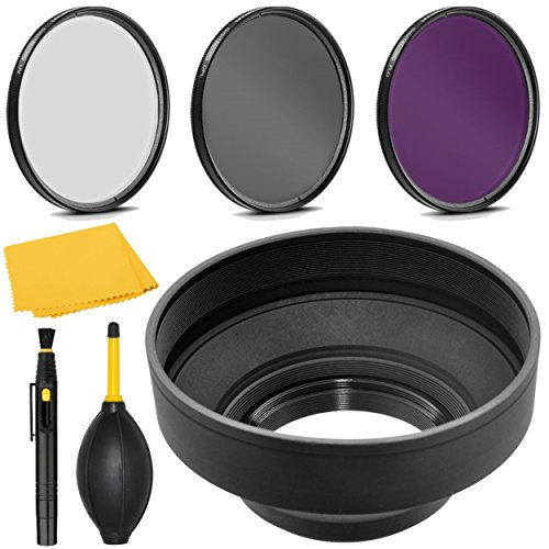PRO 77mm Filter Kit + PRO 77 mm Rubber Lens Hood for Canon EF 17-40mm f/4.0L USM - 77 mm Polarizing Filter, 77mm UV Filter, 77mm Florescent Filter & 77mm Soft Lens Hood (40mm Espresso Tamper compare prices)