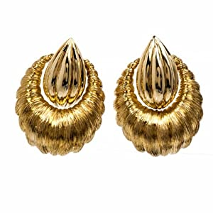 Cartier 18k Gold Clip-back Door-knob Earrings