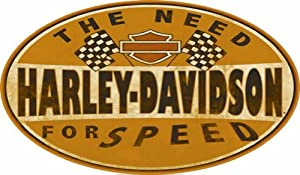 Harley-Davidson® 10'' Oval Sign - The Need For Speed - AR2010661 Tin