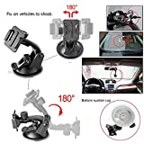 Gogolook 57-in-1 Action Camera Accessories Kits for Gopro 4/3/2/1 SJ4000 SJ5000 Accessory Bundles with Chest Harness Mount/Suction Cup Mount/Selfie Stick/Folating Hand Grip